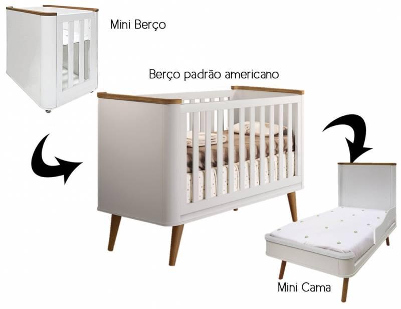 Berço Curvo | Minicama Confort 3 em 1