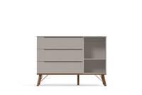 Comoda com Porta Albi Interno - Cinza Eco Wood